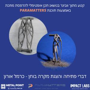 Optimal design for 3D printing - Carmel Oron \\ Impact Labs PARAMATTERS webinar